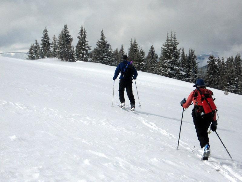 Heading for the upper slope of Polar Line