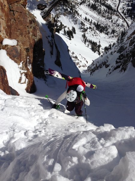 Josh punching it to the top of Suicide Chute