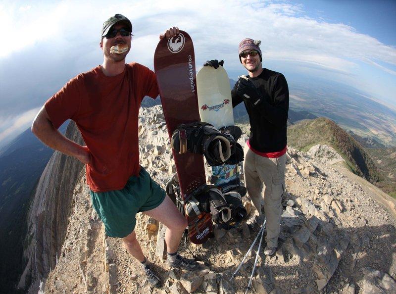 Summit Cheeseburger atop Naya Nuki.  Photo by Ned Gall.