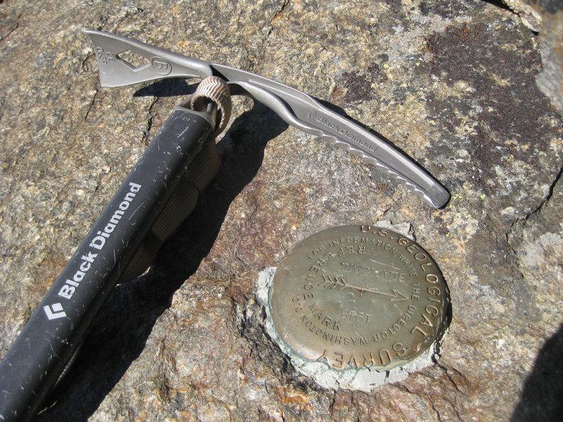 USGS Survey marker atop Mount Black