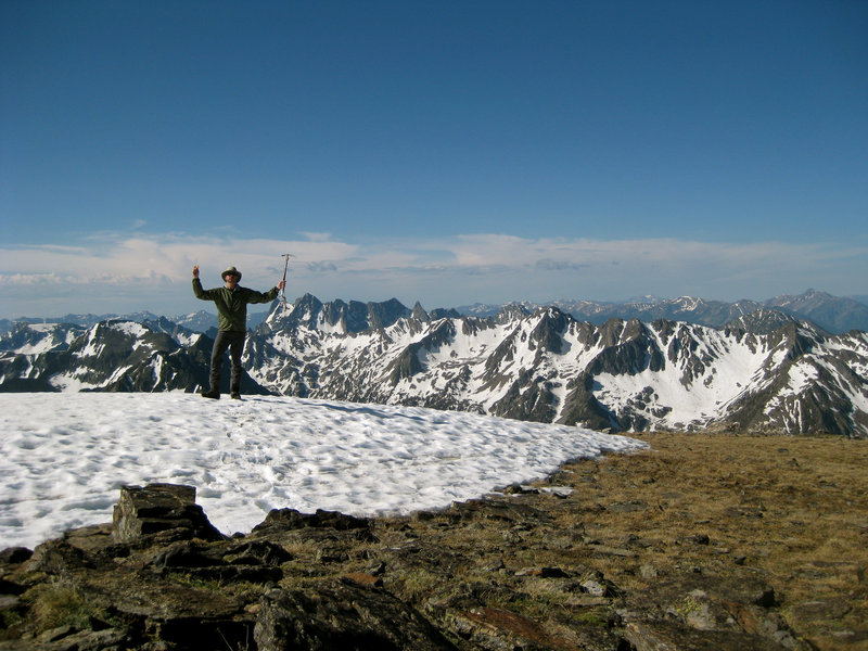 Summit of Mount Black looking South across the Absaroka-Beartooth Wilderness.