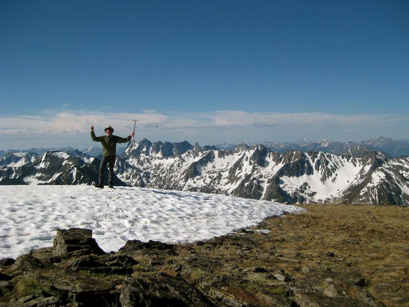 Summit of Mount Black looking South across the Absaroka-Beartooth Wilderness.