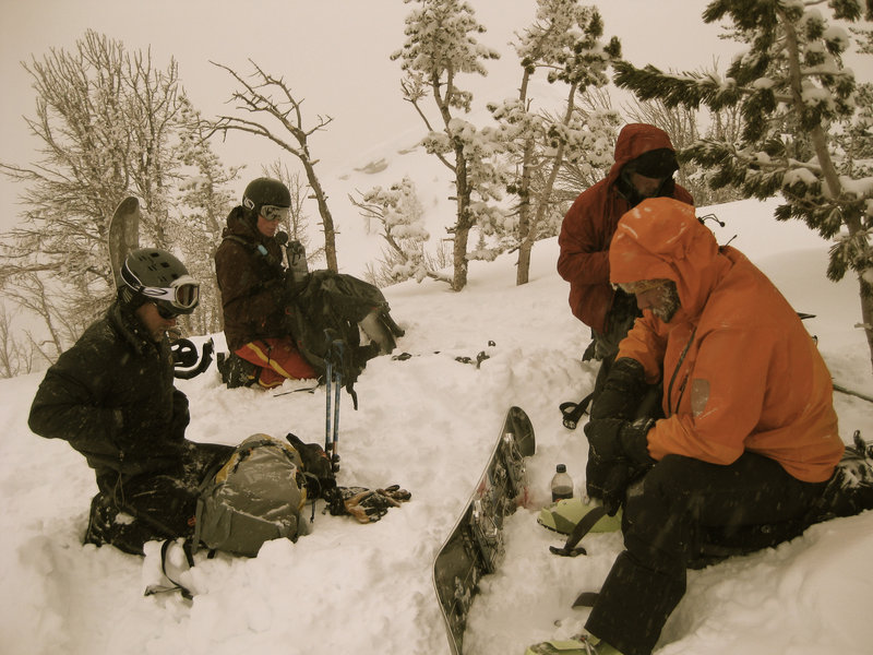 Preparing for the descent atop East Angle