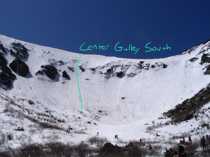 Center Gulley South from the Ravine Floor