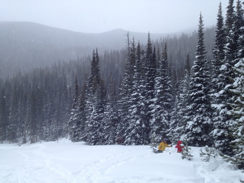 The powder was deep and amazing on this day!