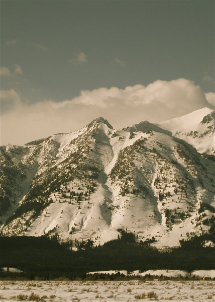 Albright Peak (left), Static Peak (center), and Buck Mountain (right).