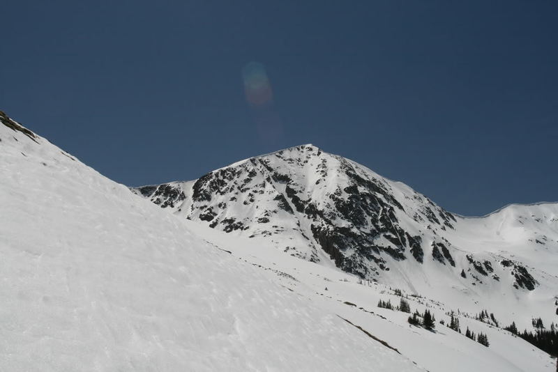 The line viewed from the base of the north face of Torreys.