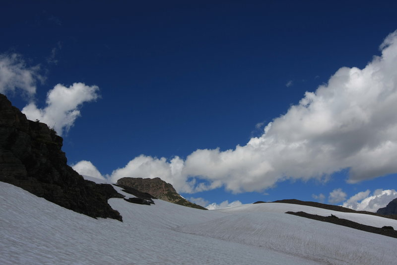 Hanging Gardens snowfield.