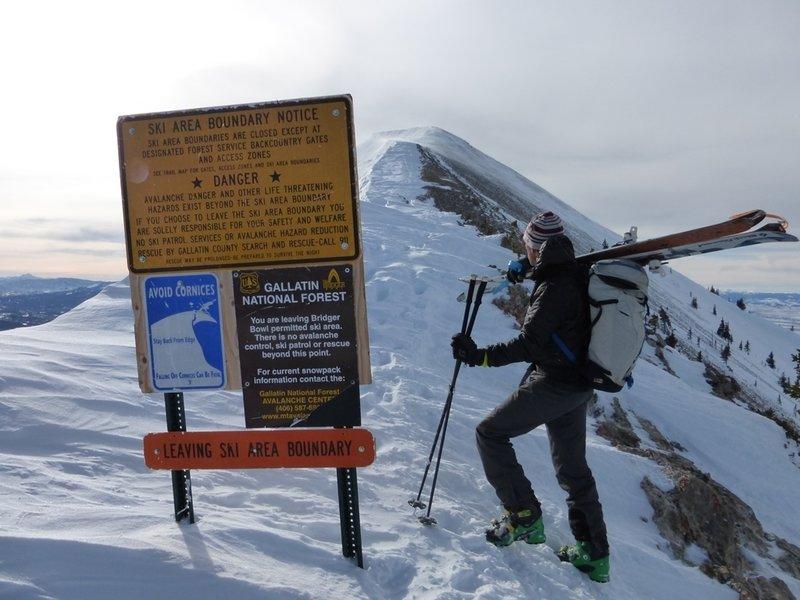 Saddle Peak backcountry gate.