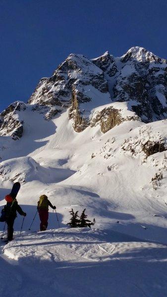 Ascending to Mount Joffre