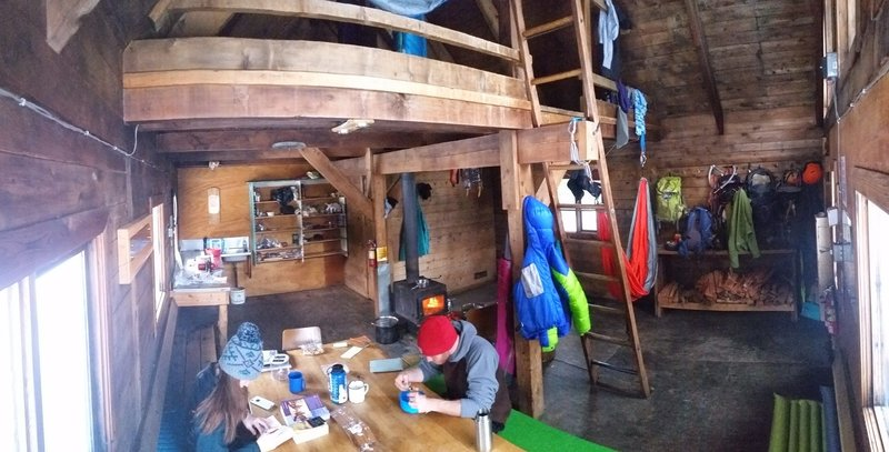 Keiths Hut interior on a lazy morning.