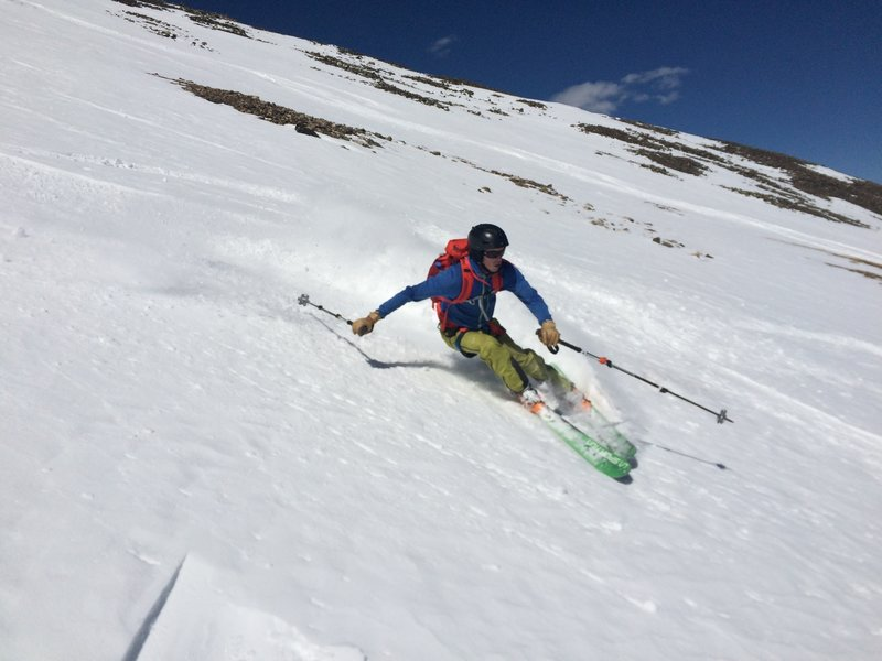 Hitting the upper bowel on the NE side of Quandary