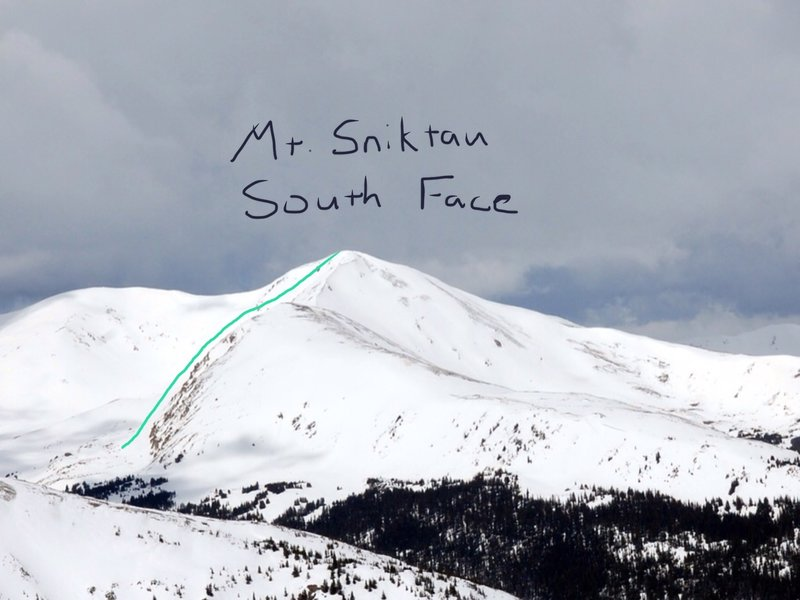 Mount Sniktau South Face