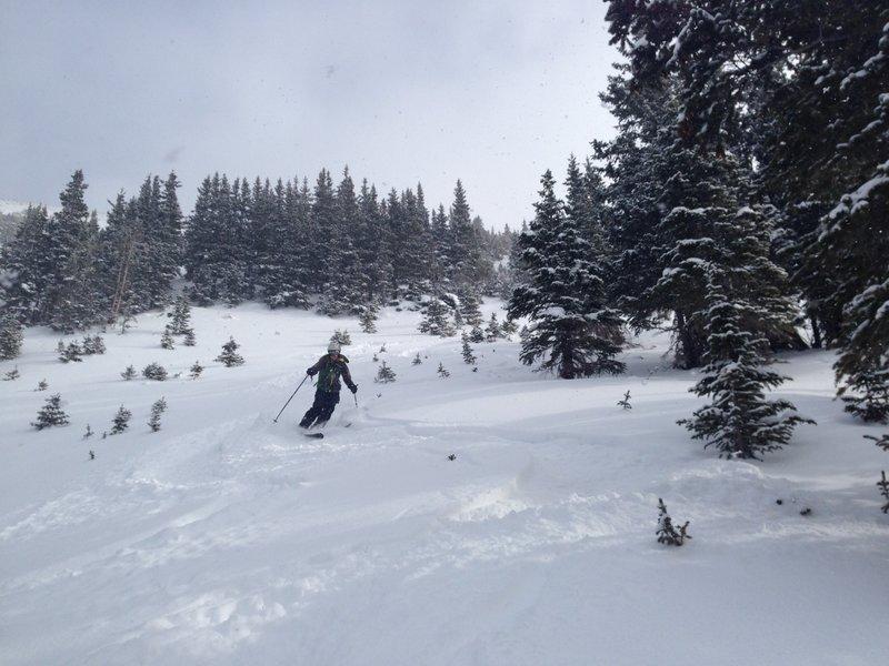 nice turns on good snow