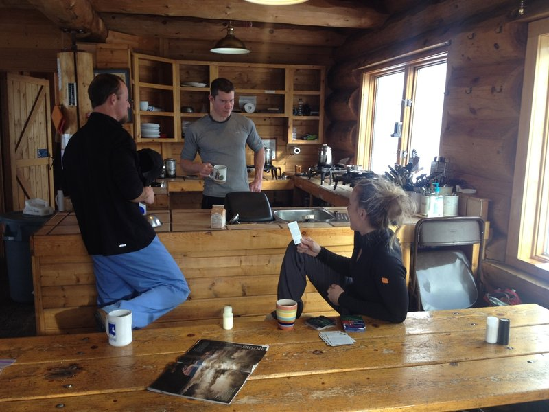 Morning coffee at Francie's. A beautiful cabin everyone should enjoy.