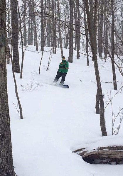 Nice turns at Spring Farm upper glades in 2015 winter!