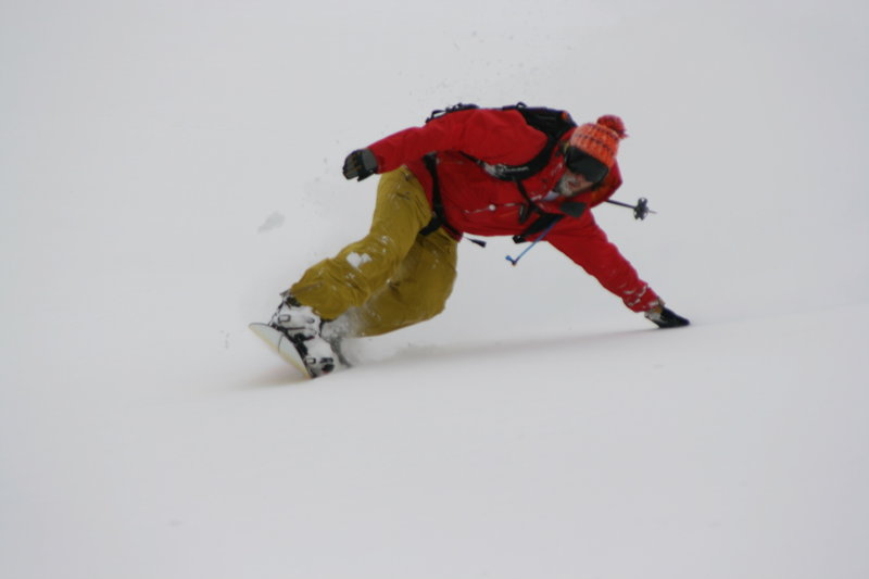 Laying it out on Rainier.
