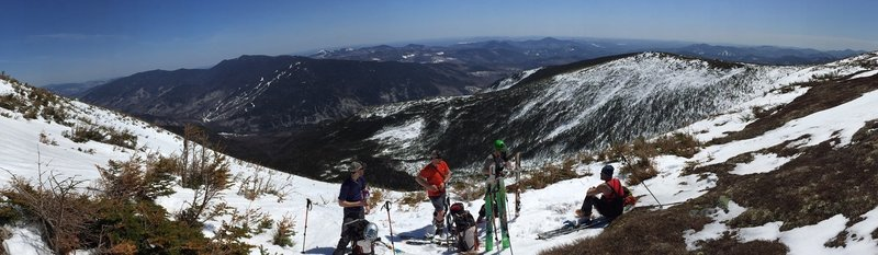 Height of land between Gulley #1 and the South Snow Fields - 04.13.2015