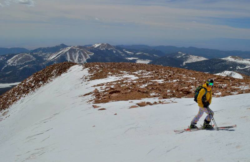 Beautiful view from the top of Pikes Peak as you ski down