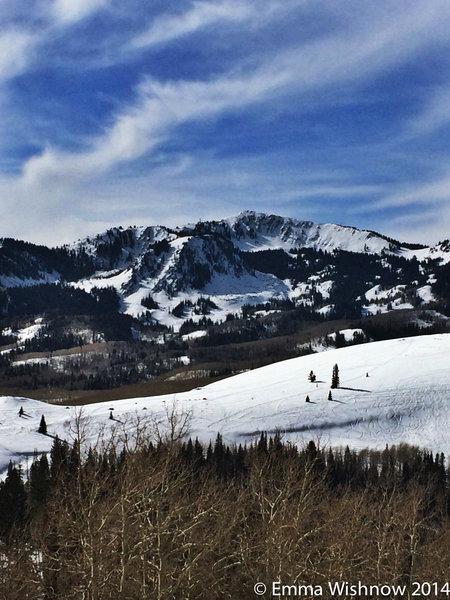 Looking at the chutes at Deer Valley