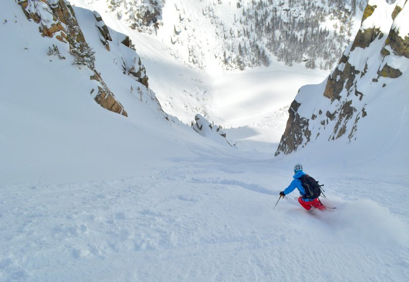 Looking down the middle of the couloir.