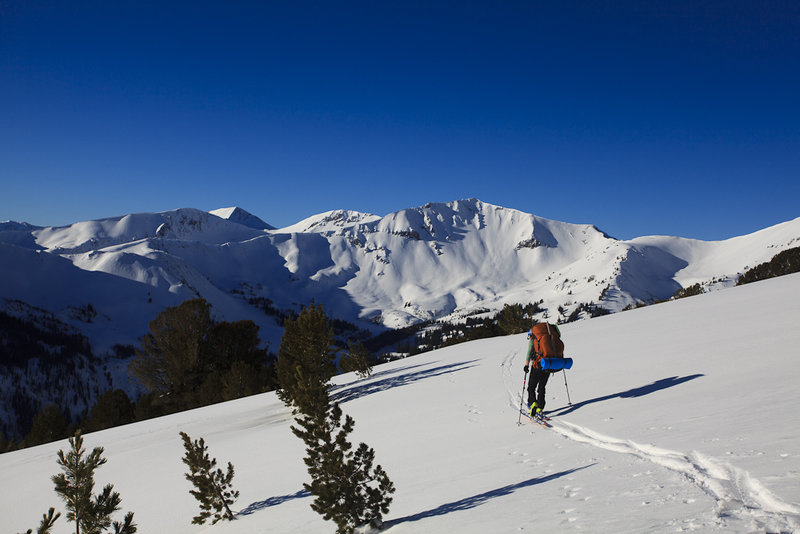 Looking towards Sentinel Peak and wishing we had more time to ski. (Photo Credit: Camrin Braun)