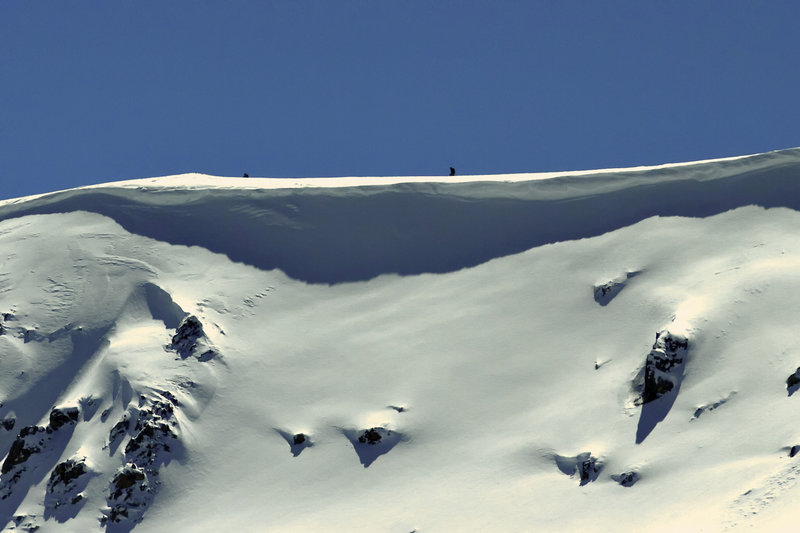 An example of the cornice that can form on Loveland Ridge.