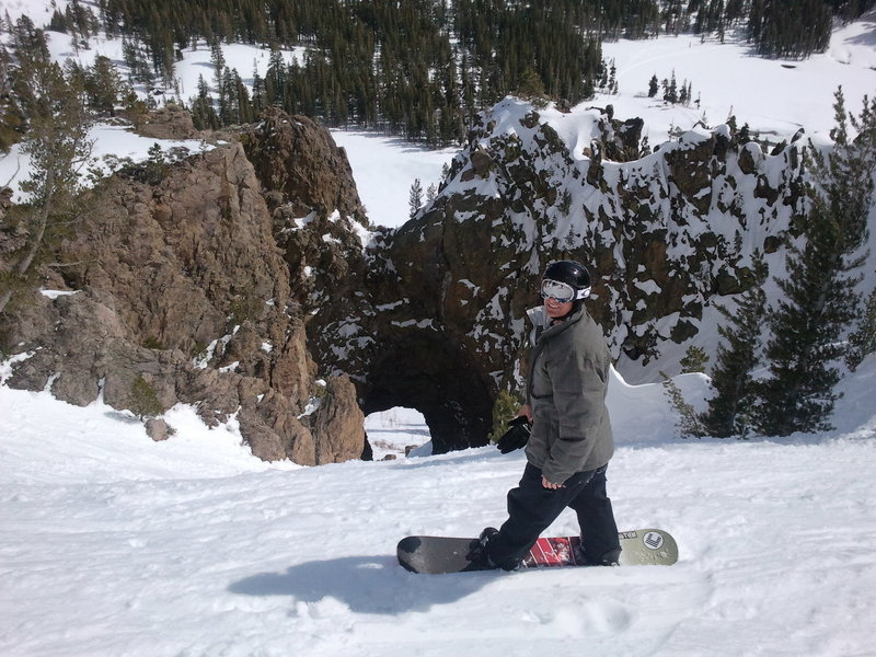 Great fun to board/ski a lava tube!