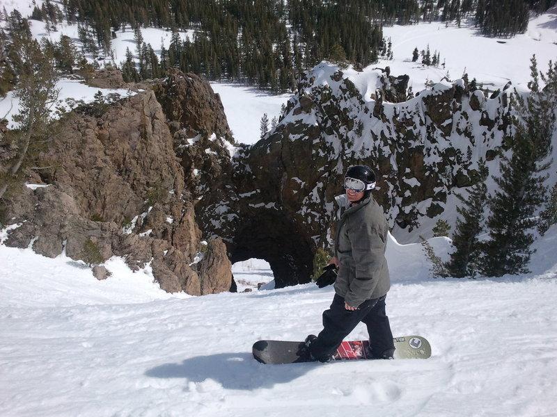 Great fun to board/ski a lava tube!