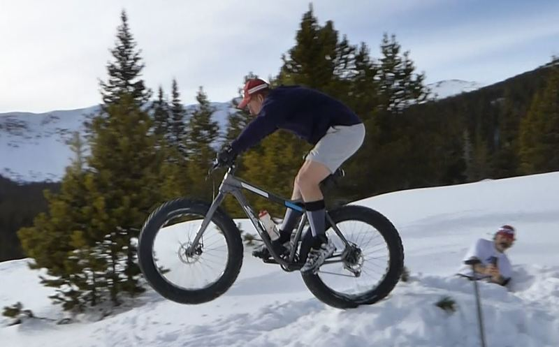 Another attempt at fat bike jumping!