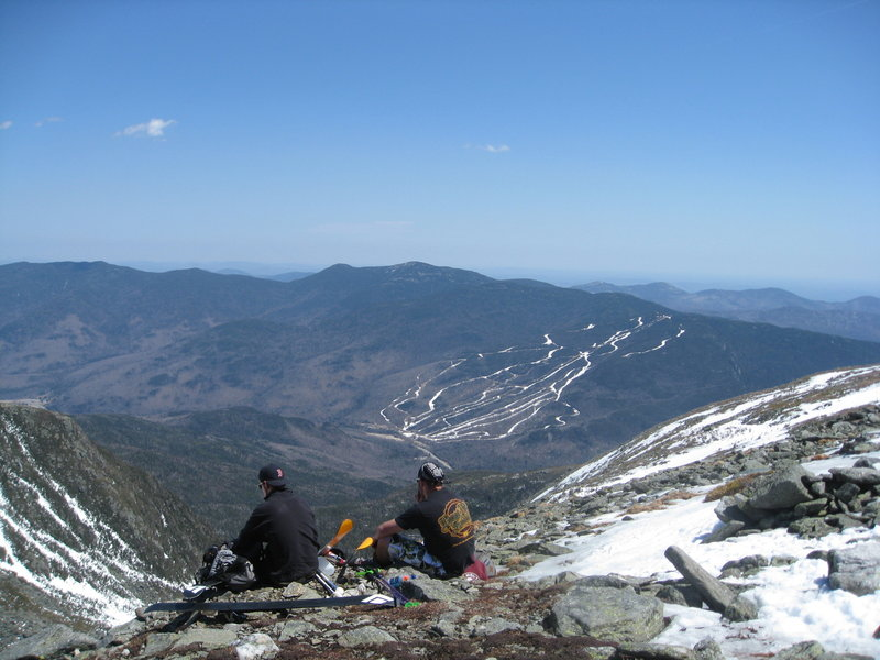 The view from the top of Left Gully, with Wildcat in the background.