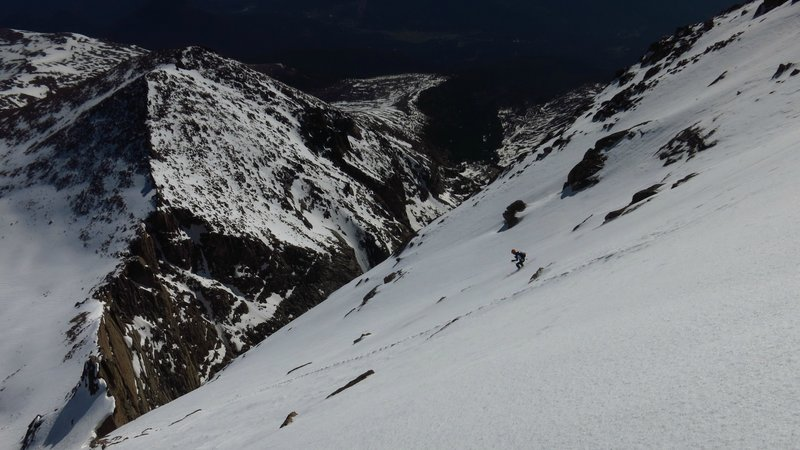 Perfect conditions on the North Face in June 2015. Good coverage all the way down the face.