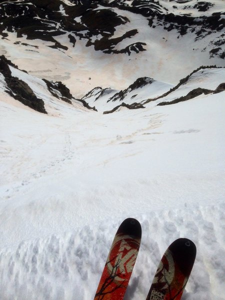 The top of Dead Dog Couloir.