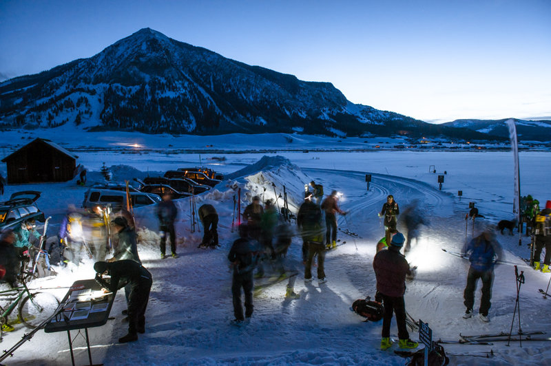 Crested Butte start line at Crested Butte Nordic- Town Ranch trailhead.