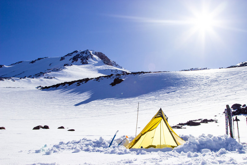 Base camp on Mt. Shasta.