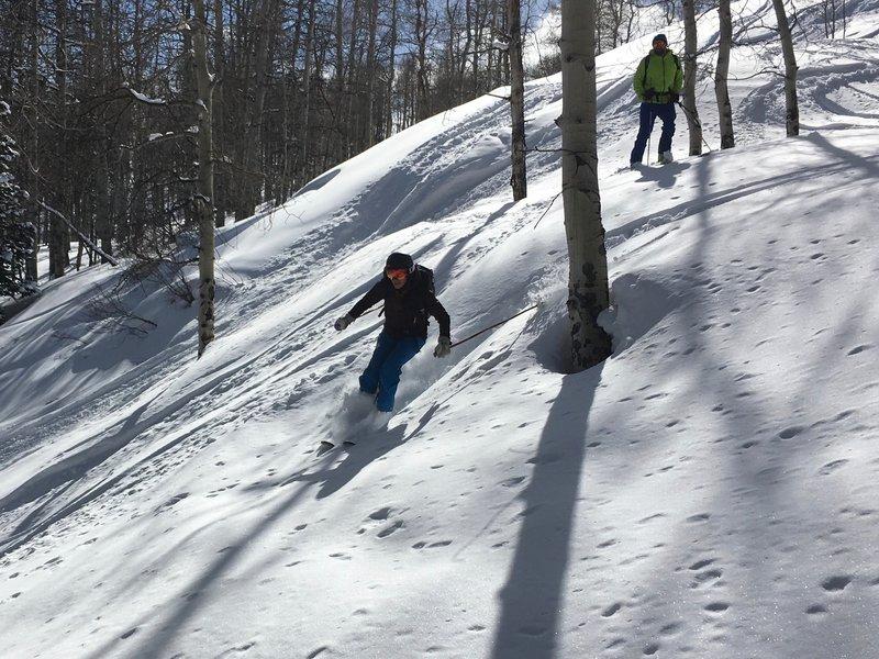 Lauren enjoys open trees on Meadow Mountain.