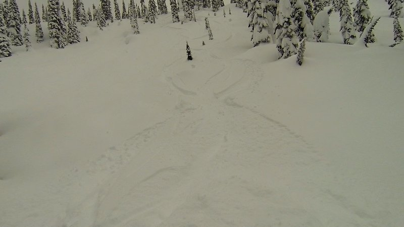 Looking back up at Buff and Fluff, I wish I could hit it again!