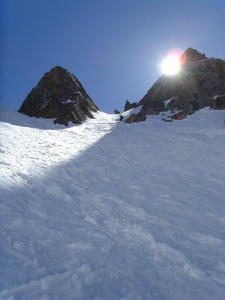 Breakfast Couloir makes a great ski!
