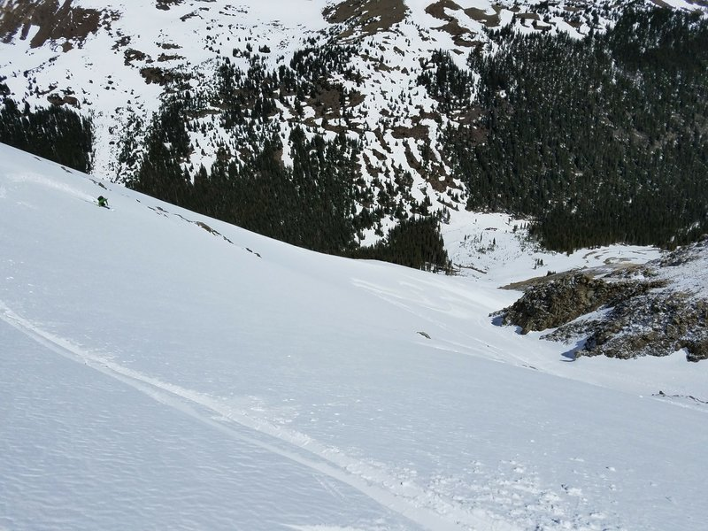 Things open up lower down the Emperor Couloir. Enjoy!