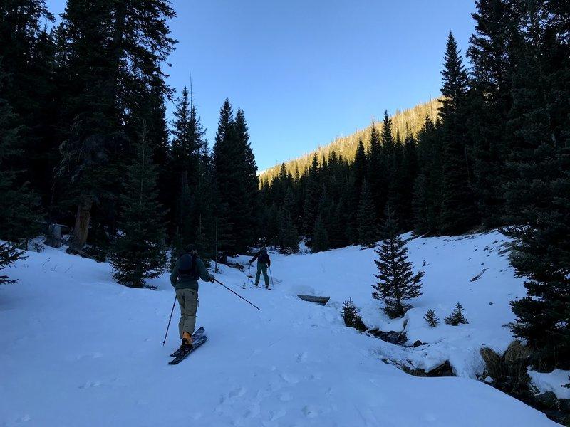 Creek crossing in low-snow December.