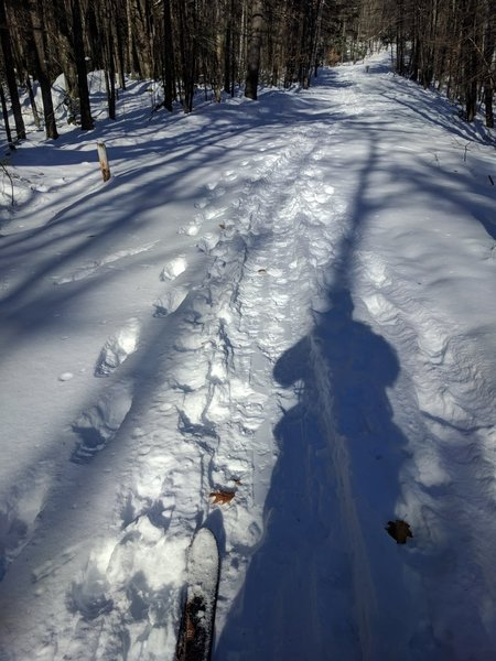 Kearsarge Mountain Road sees some good use during winter.