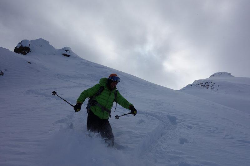Enjoying the descent!