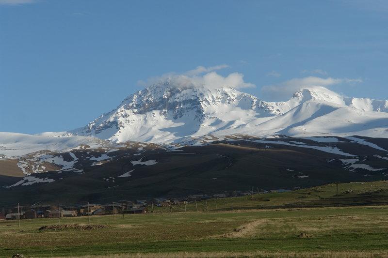 Mount Aragats from afar.