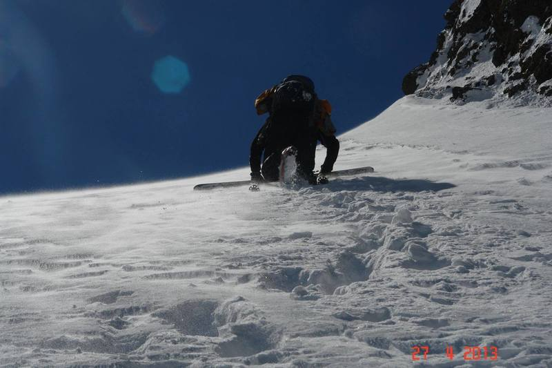 A steep bootpack on the way to the top makes for an adventurous trip!