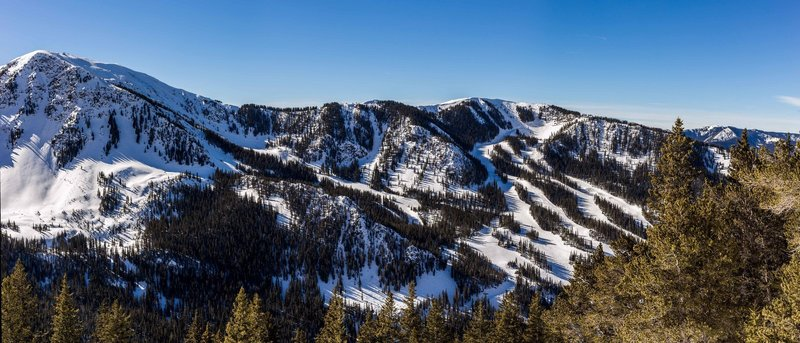 Taos Ski Valley from near treeline in the North Peace trib