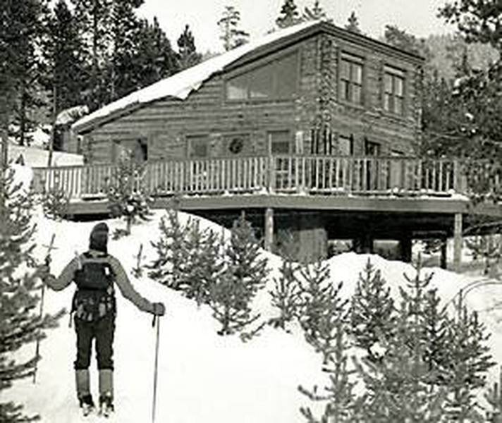 Old photo of Vance's Cabin