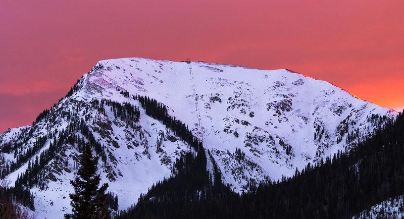 Kachina Peak during a Spring sunset