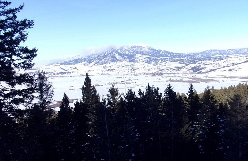 View to the north to Bridger Range, at about 1.4 miles up