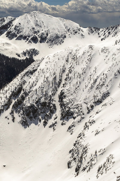 What's Yours from the top of the K9 Couloir