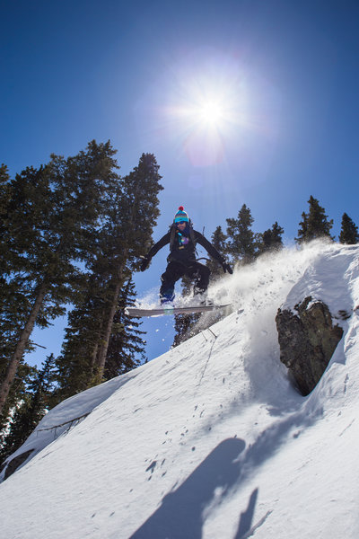 Rock hoppy fun in the sun in the Taos backcountry